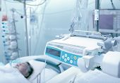 stock photo of intensive care unit  - Patient unconscious in the intensive care units - JPG