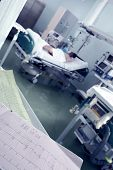 picture of intensive care  - Clock monitoring of patients in intensive care concept - JPG