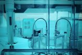 stock photo of robot  - Robot in the modern laboratory. Professional photo