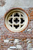 picture of juliet  - medevial castle window detail from House of Julieta in Verona Italy - JPG