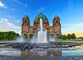 picture of dom  - sunset at Berlin Cathedral or Berlin Dom Germany - JPG