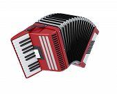 image of accordion  - Bayan isolated on white background - JPG