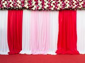 stock photo of stage decoration  - wedding stage decoration for take picture - JPG
