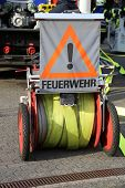 picture of fire brigade  - A locking plate road a fire brigade in Germany - JPG