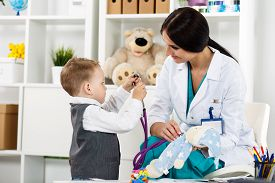 pic of stethoscope  - Family doctor examination - JPG