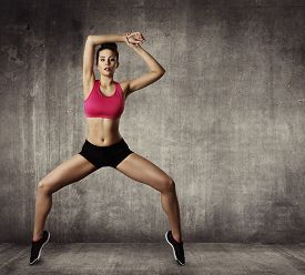 image of  dancer  - Woman Fitness Gymnastic Exercise Sport Young Girl Fit Dance Modern Aerobic Dancer - JPG