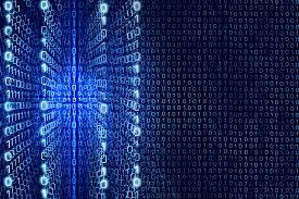 stock photo of zero  - Blue Matrix Abstract  - JPG