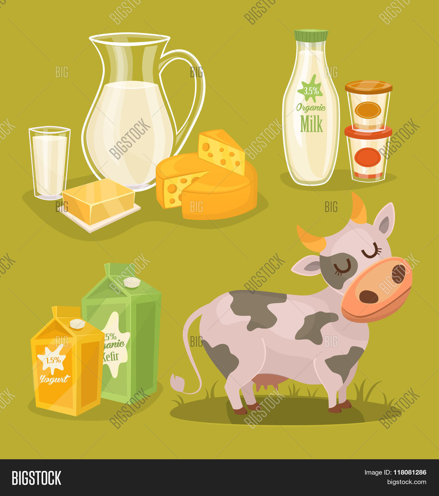 Dairy Products. Vector Vector & Photo | Bigstock