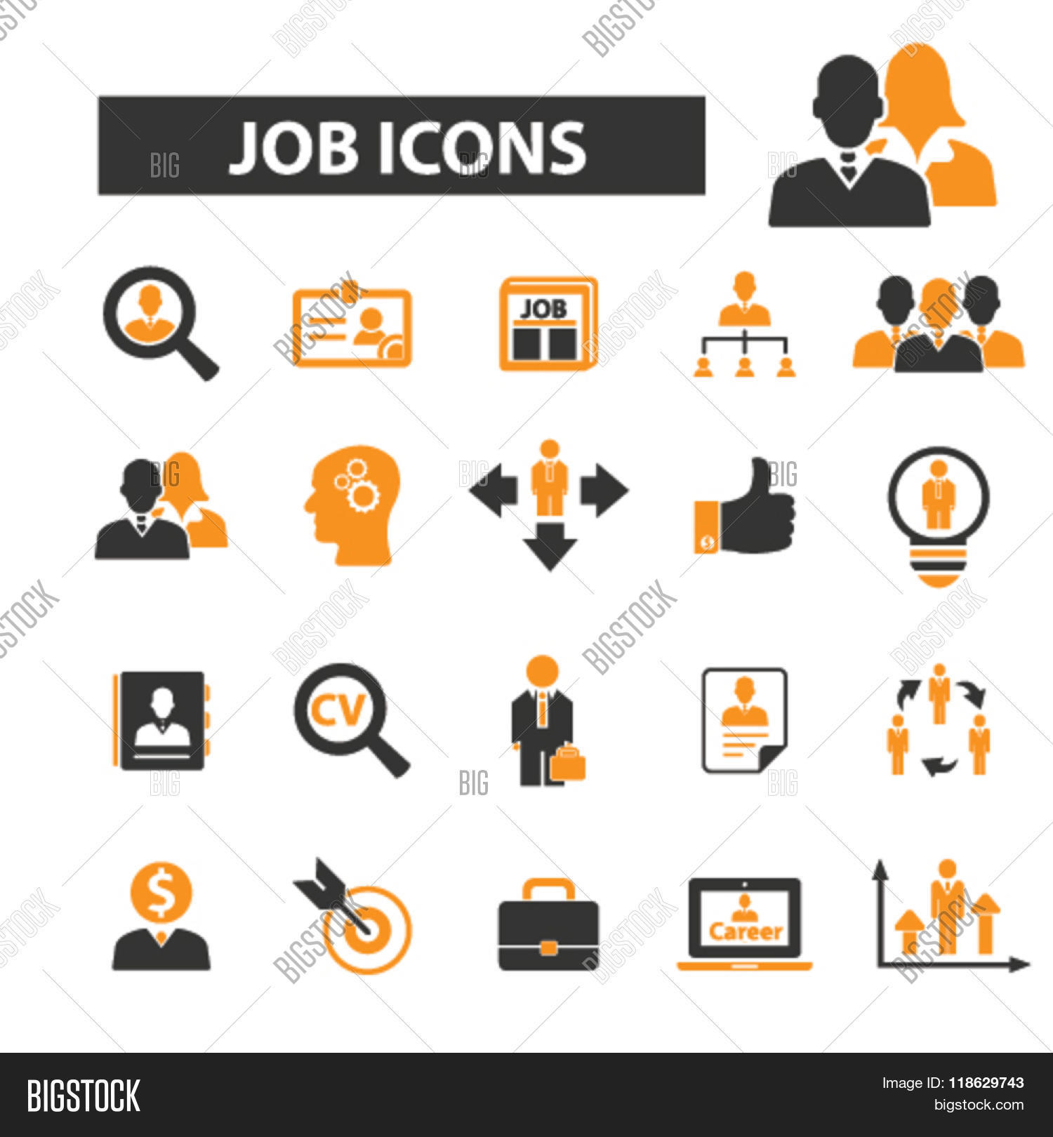 job icons  job logo  career icons vector  u0026 photo