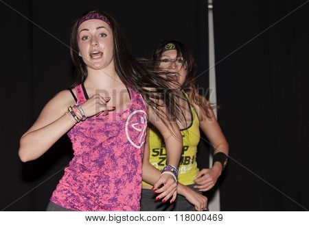 College Girl Dance Zumba Class