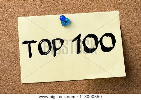 Top 100 - Adhesive Label Pinned On Bulletin Board
