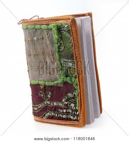 single  pocket book isolated on white background