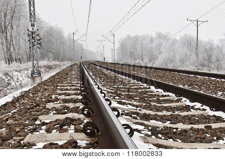 Winter Modern Railroad