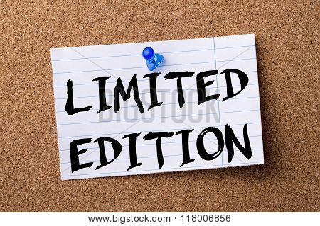 Limited Edition - Teared Note Paper  Pinned On Bulletin Board