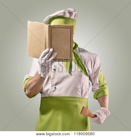chef with cook book