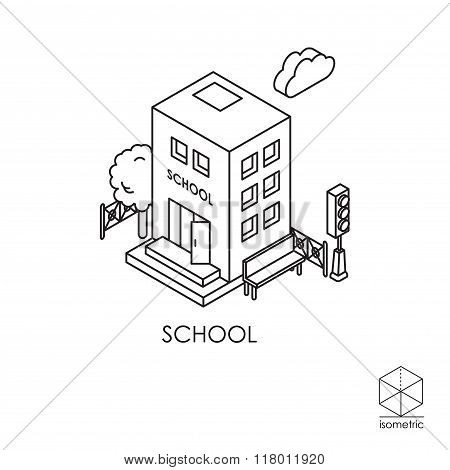 Isometric Vector Icon School