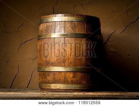 Cask and clay wall