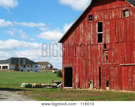 Red Barn, New House