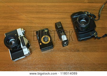 Outdated Photo Camera Set