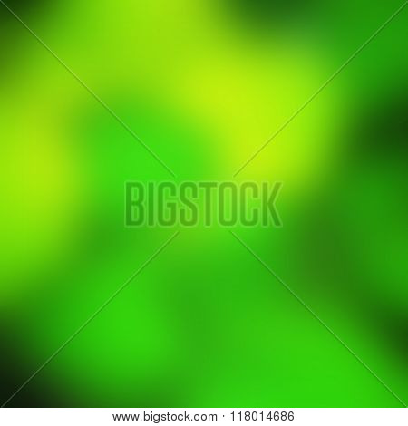 Neon Green Abstract Blurred Background Digital Art