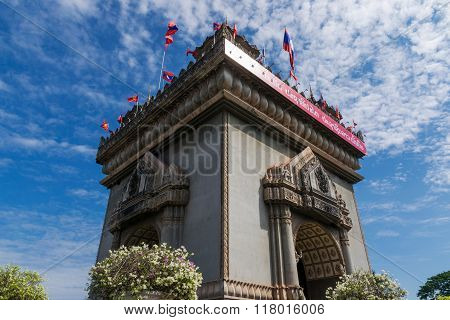 Patuxai Victory Monument In Vientian.