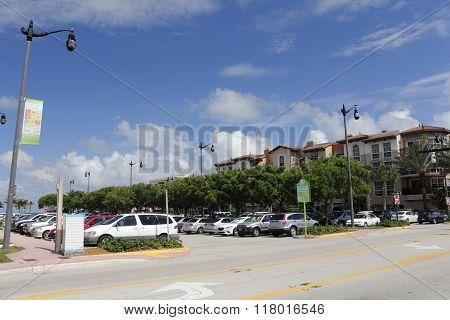 Public Parking Lot In Downtown