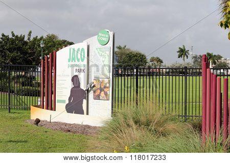 Jaco Pastorius Park In Oakland Park