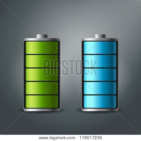 Fully charged battery smartphone - vector illustration.