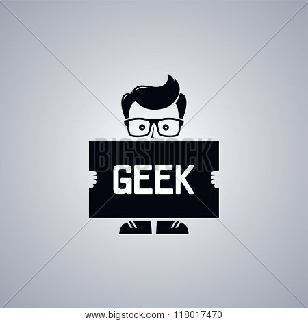 Geek Nerd Guy Cartoon