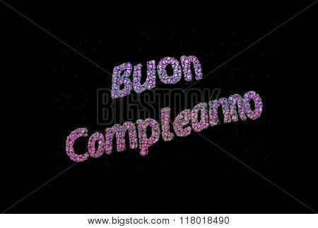 a colorful  happy birthday aon black background