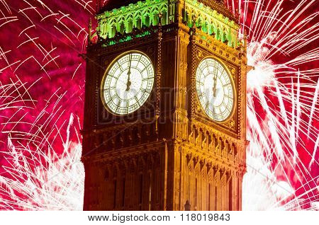London Fireworks New Years Eve