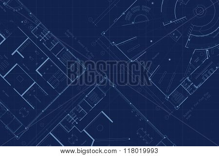 Architecture blueprint floor plan