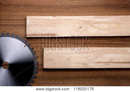 Woodwork Elements With Two Piece Of Wood Slats.