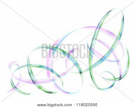 Abstract Spiral Stripes In Form Of Loops And Arcs