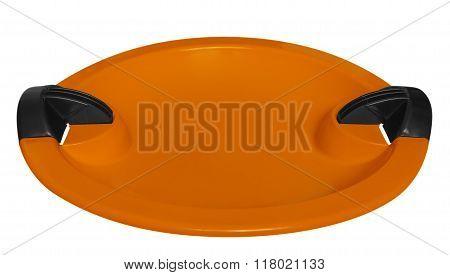 Toboggan Isolated On The White - Orange