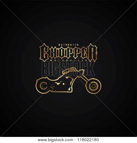 Chopper Motorcycle Logotype
