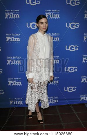 SANTA BARBARA - FEB 12:  Rooney Mara at the 31st Santa Barbara International Film Festival - Cinema Vanguard Award on February 12, 2016 in Santa Barbara, California