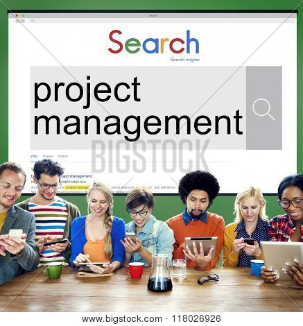 Project Management Organization Planning Process Concept