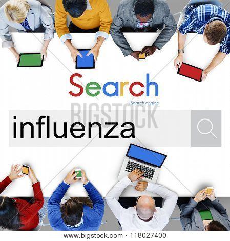 Influenza Cold Fever Flu Illness Concept