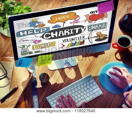 Charity Help Give Volunteer Concept