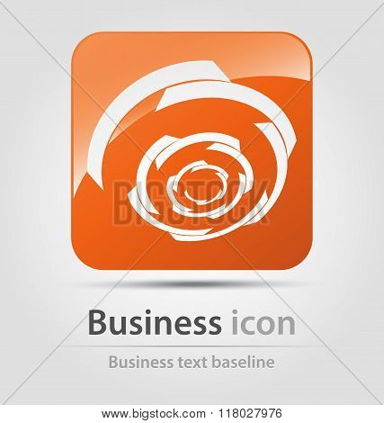 Orange twister Business Icon