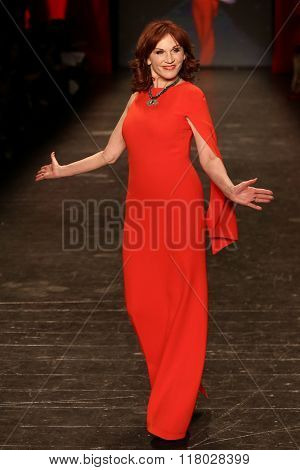 NEW YORK-FEB 11: Marilu Henner wears Escada at Go Red for Women Red Dress Collection 2016 Presented by Macy's at New York Fashion Week at Moynihan Station on February 11, 2016 in New York City.