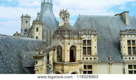 CHAMBORD, FRANCE - AUGUST 12, 2015: Chateau de Chambord. Chateau de Chambord is royal medieval french castle. Unesco World heritage site.