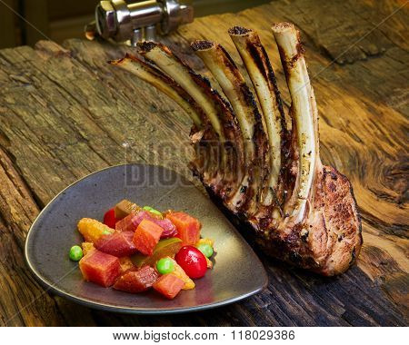 Grilled Pork Chop With Ribs