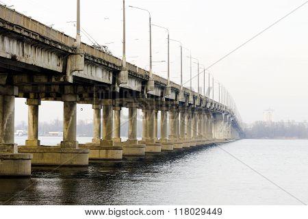 Bridge Over The River In The City