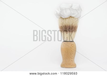 Wooden Classic Shaving Brush With Foam