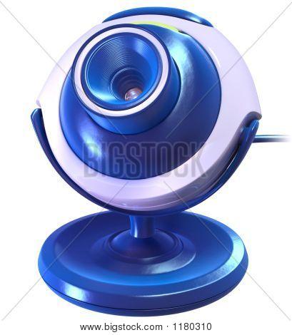 Blue Cyber Camera
