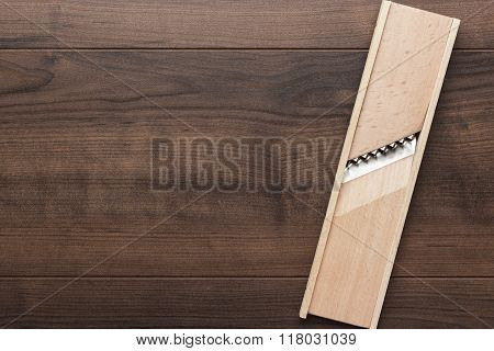 retro wooden shredder