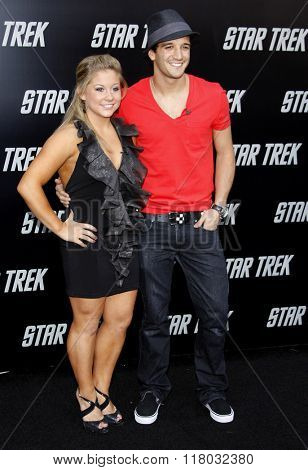 Shawn Johnson and Mark Ballas at the Los Angeles Premiere of