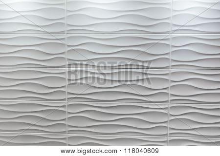 white tile wavy shape